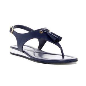 Cole Haan Rona Flat Sandal Marine Blue Size 9B EUC